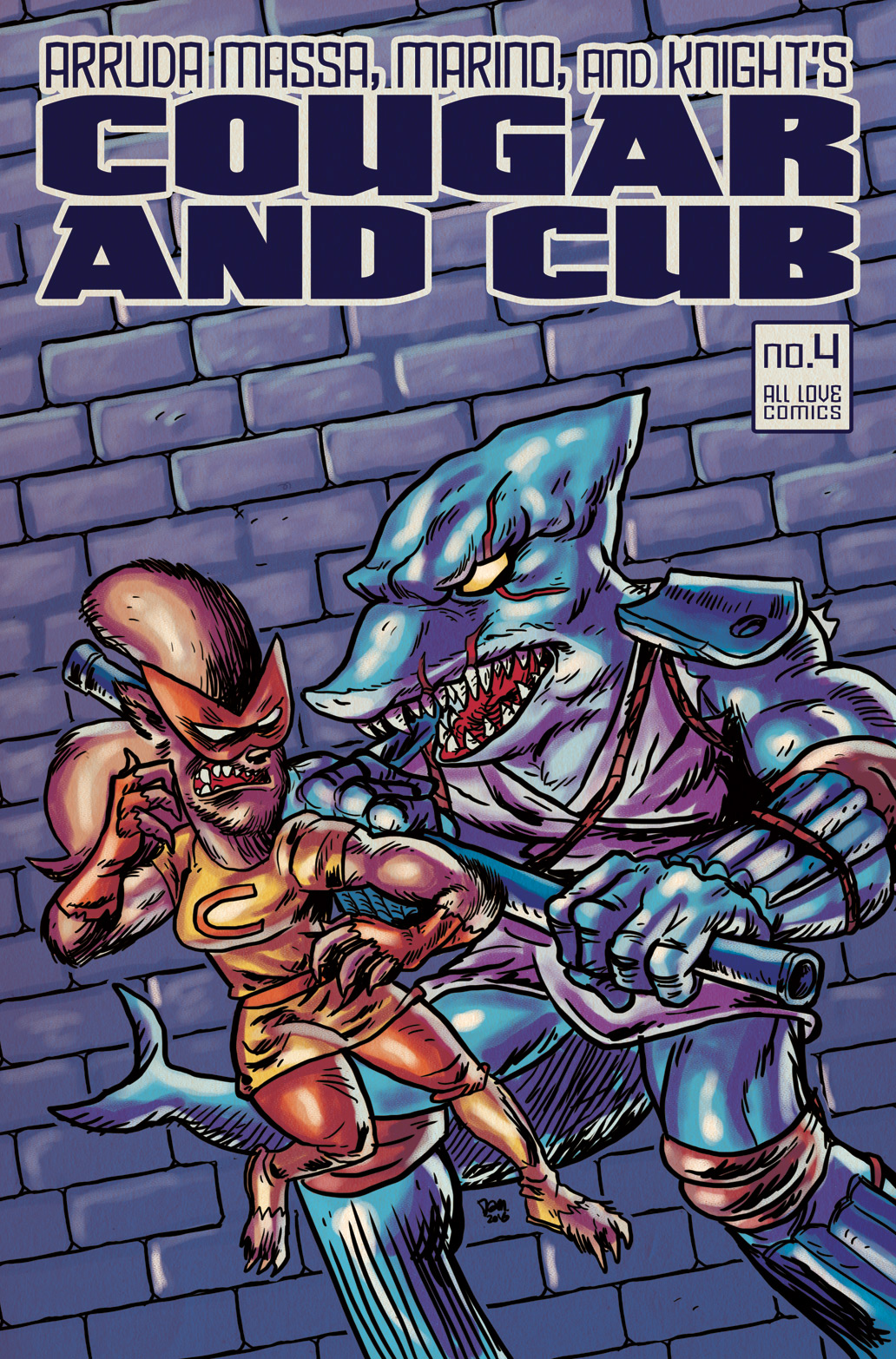Cougar and Cub #4 flashback cover